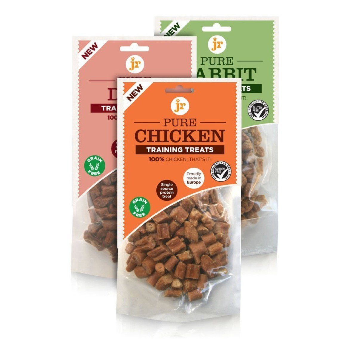 Pure Training Treats Variety Pack (Chicken, Duck & Rabbit) Dog Treats JR Pet Products