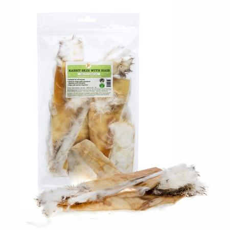 Rabbit Skin with Hair Dog Treats JR Pet Products