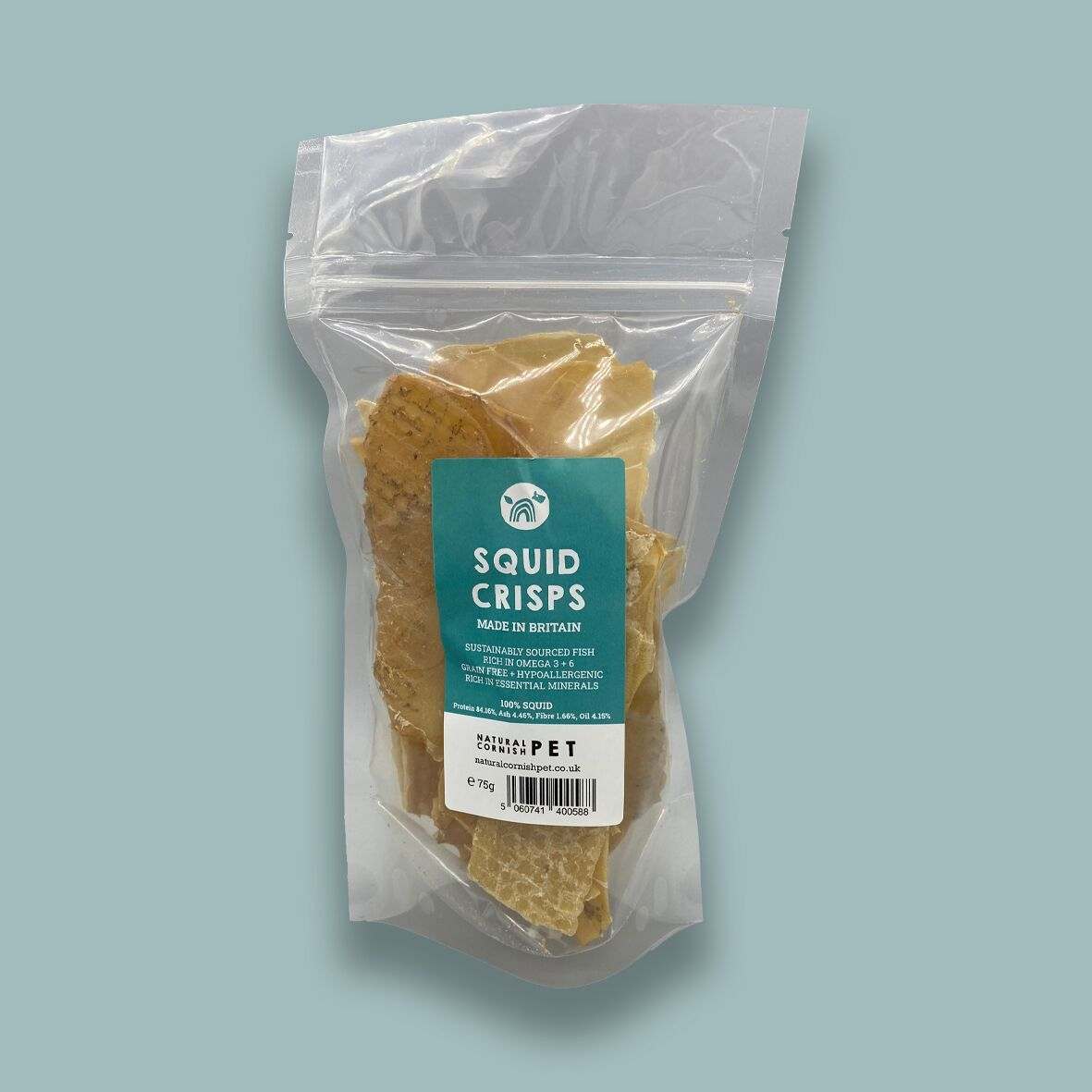 Squid Crisps for Dogs Dog Treats Natural Cornish Pet