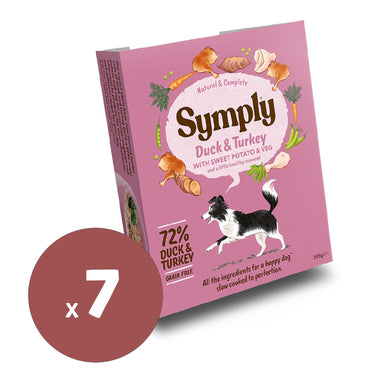 Symply Wet Food Duck & Turkey 395g x7 Dog Food - Wet Symply