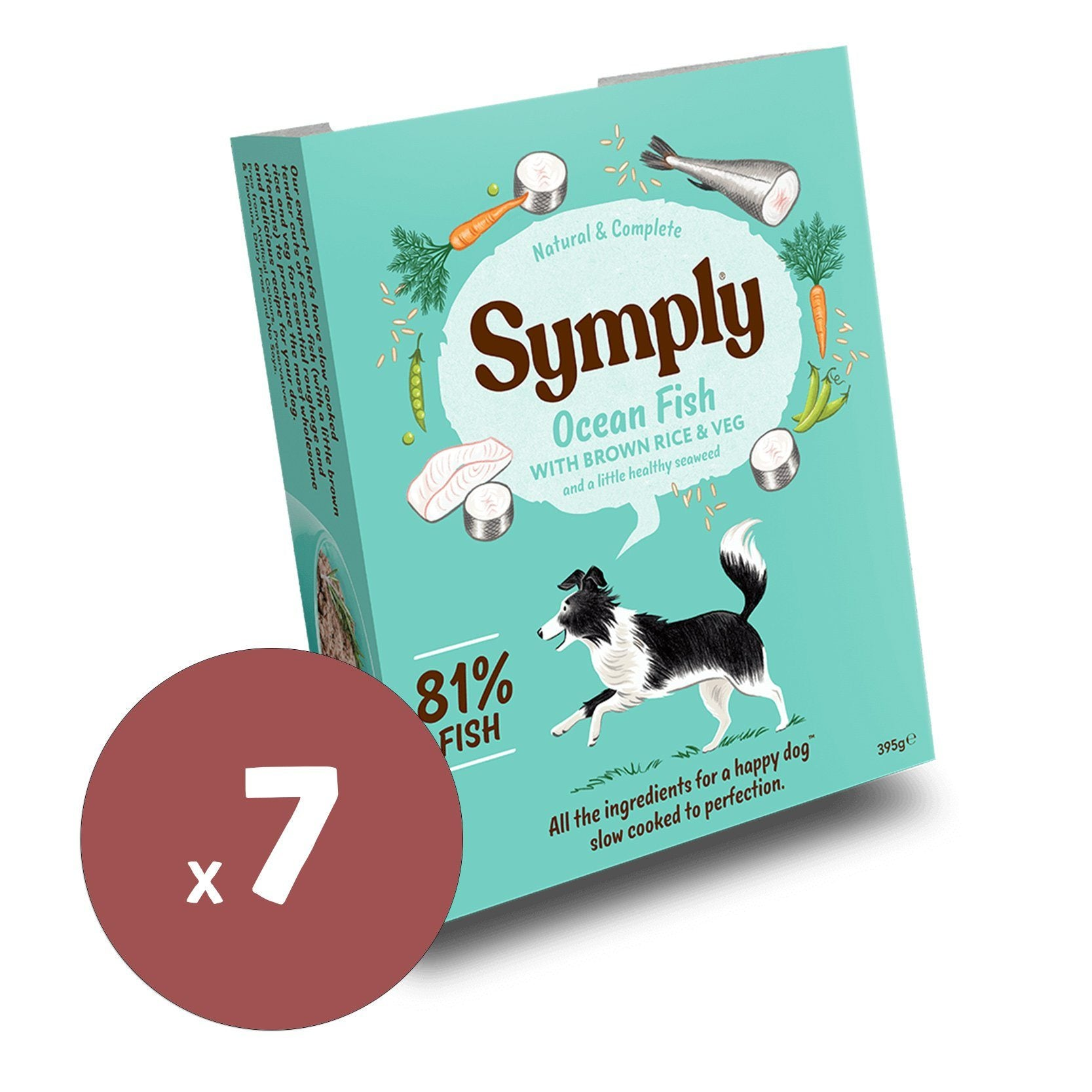 Symply Wet Food Ocean Fish 395gx7 Dog Food - Wet Symply