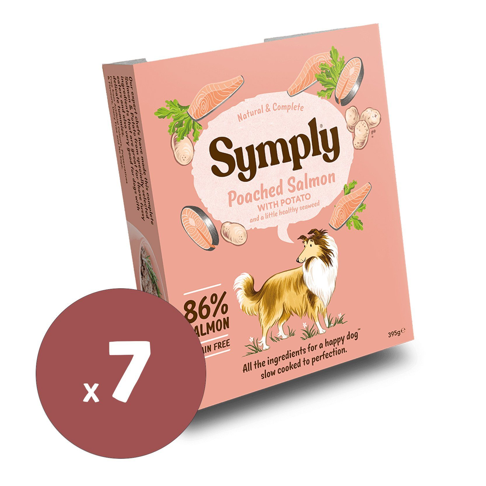 Symply Wet Food Poached Salmon 395gx7 Dog Food - Wet Symply