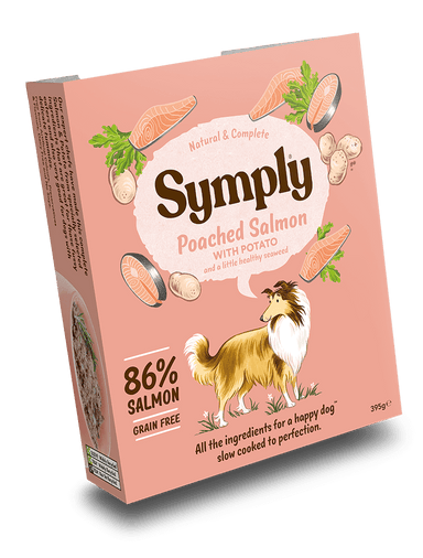 Symply Wet Food Poached Salmon Dog Food - Wet Symply