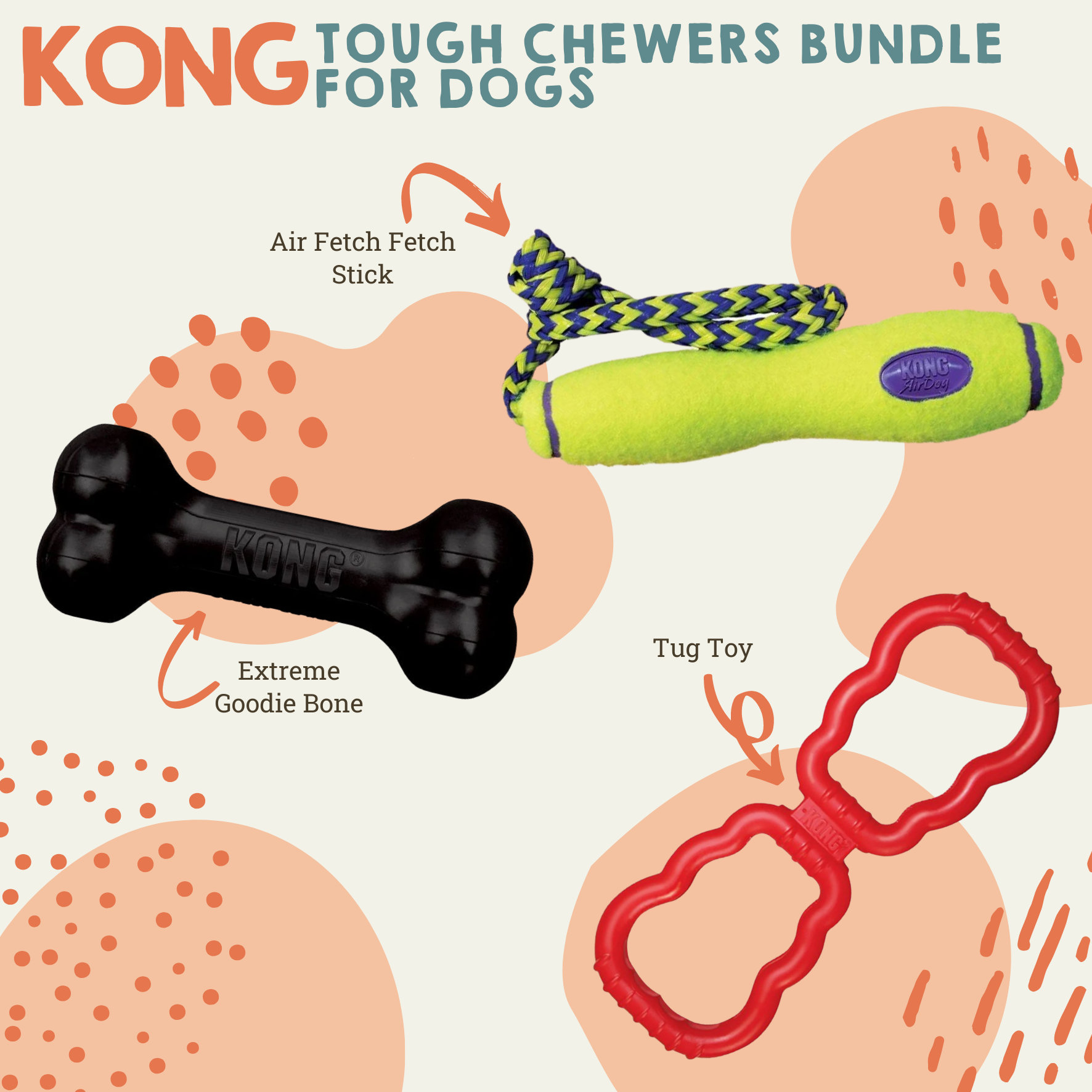 Tough Chewers Toy Bundle For Dogs Dog Toys Natural Cornish Pet Shop