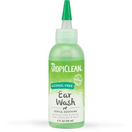Tropiclean Alcohol Free Ear Wash 118ml Dog Grooming Tropiclean