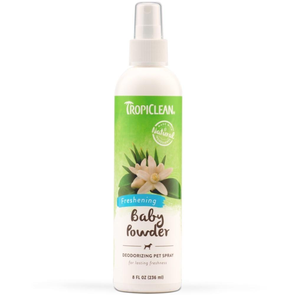 Tropiclean Baby Powder Deodorizing Spray Dog Grooming Tropiclean