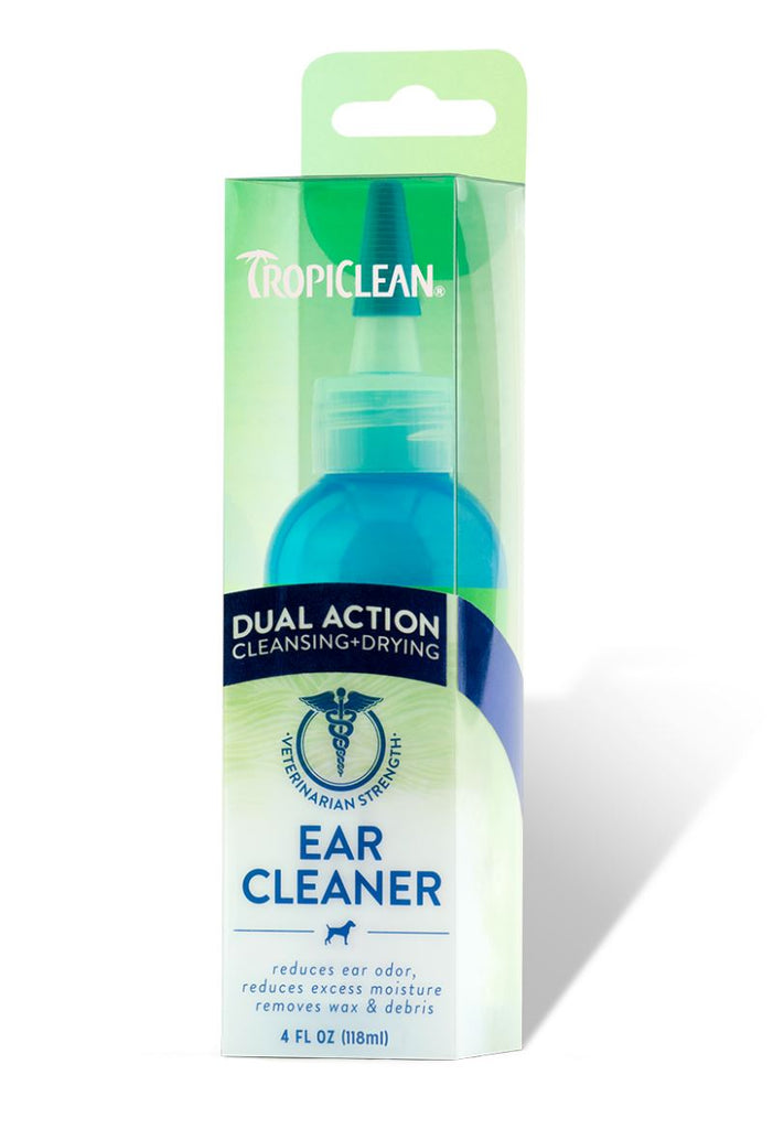 Tropiclean Dual Action Ear Cleaner 118ml Dog Grooming Tropiclean