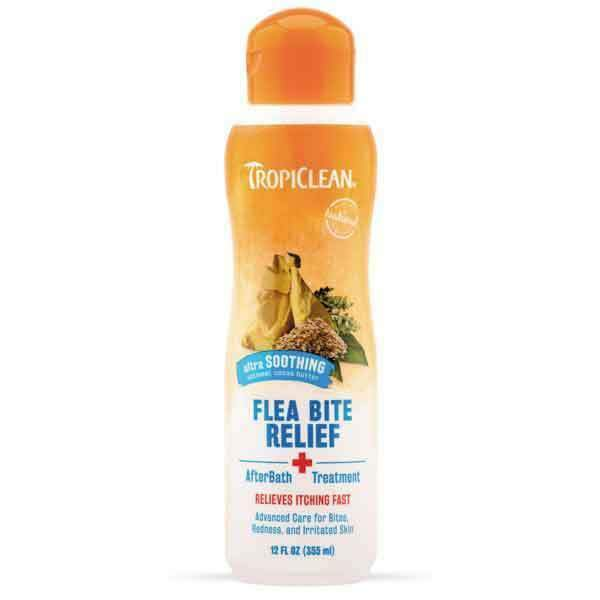 Tropiclean Flea Bite Relief with Soothing 355ml Dog Accessories Tropiclean