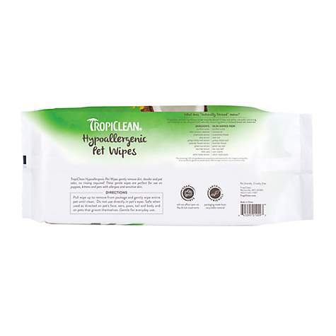 TropiClean Hypo-Allergenic Deodorizing Bath Wipes Dog Grooming Tropiclean