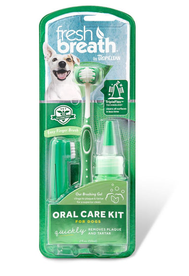 TropiClean Oral Care Kit for Dogs 59ml Dog Grooming Tropiclean