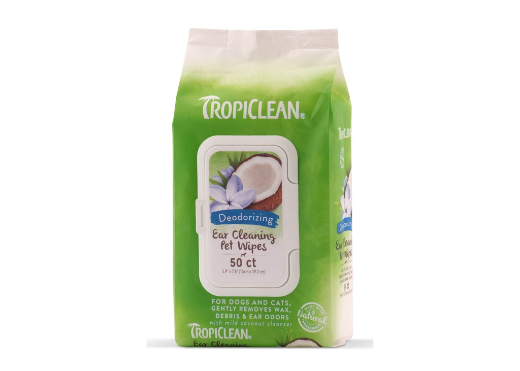 Tropiclean Tropiclean Ear Cleaning Wipes 50s Dog Grooming Tropiclean
