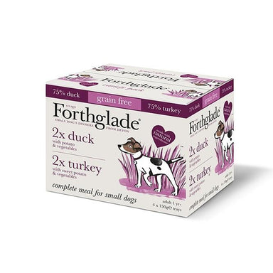 Turkey & Duck Variety Pack - 4 x 150g Dog Food - Wet Forthglade