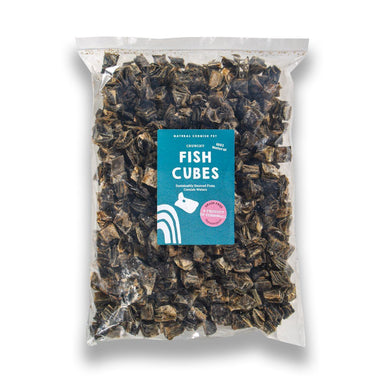 White Fish Cubes Dog Treats Natural Cornish Pet