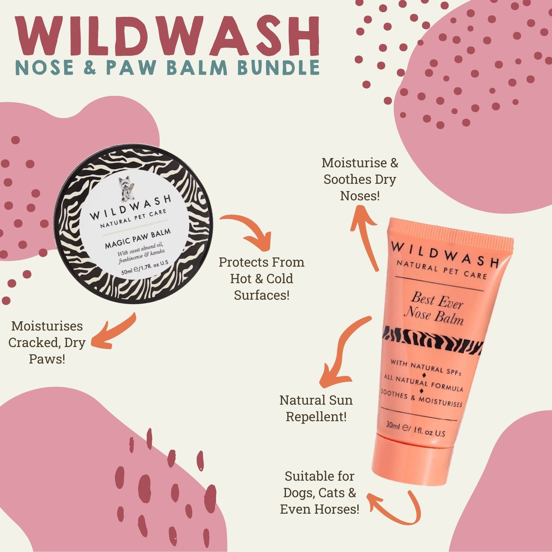 WildWash Nose & Paw Balm Bundle Dog Accessories Wildwash