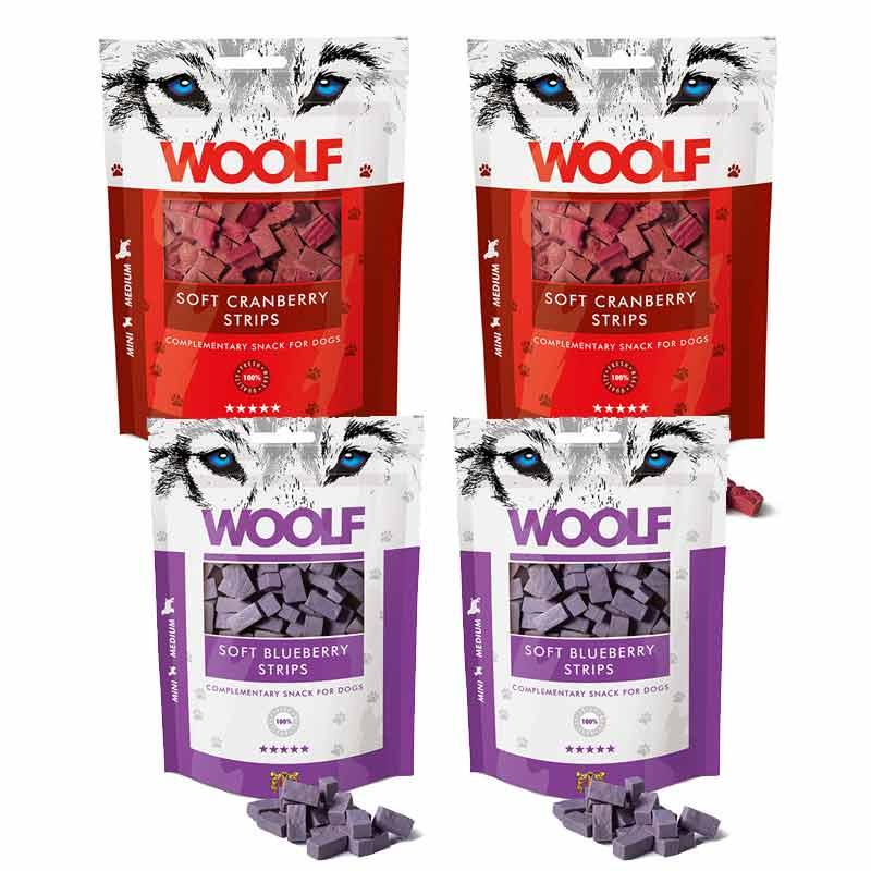 Woolf Fruity Soft Strips Bundle Dog Treats Woolf