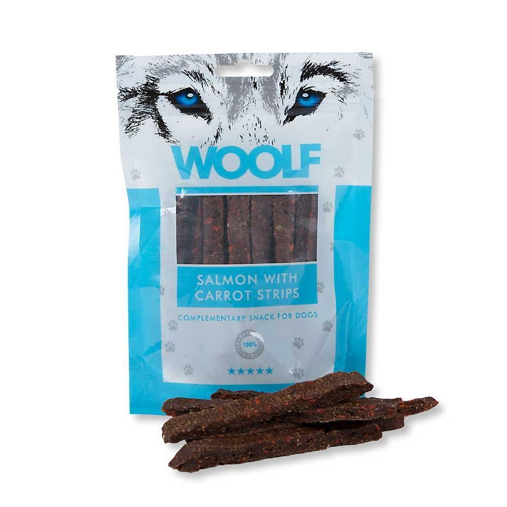 Woolf Salmon with Carrot Strips Dog Treats Woolf