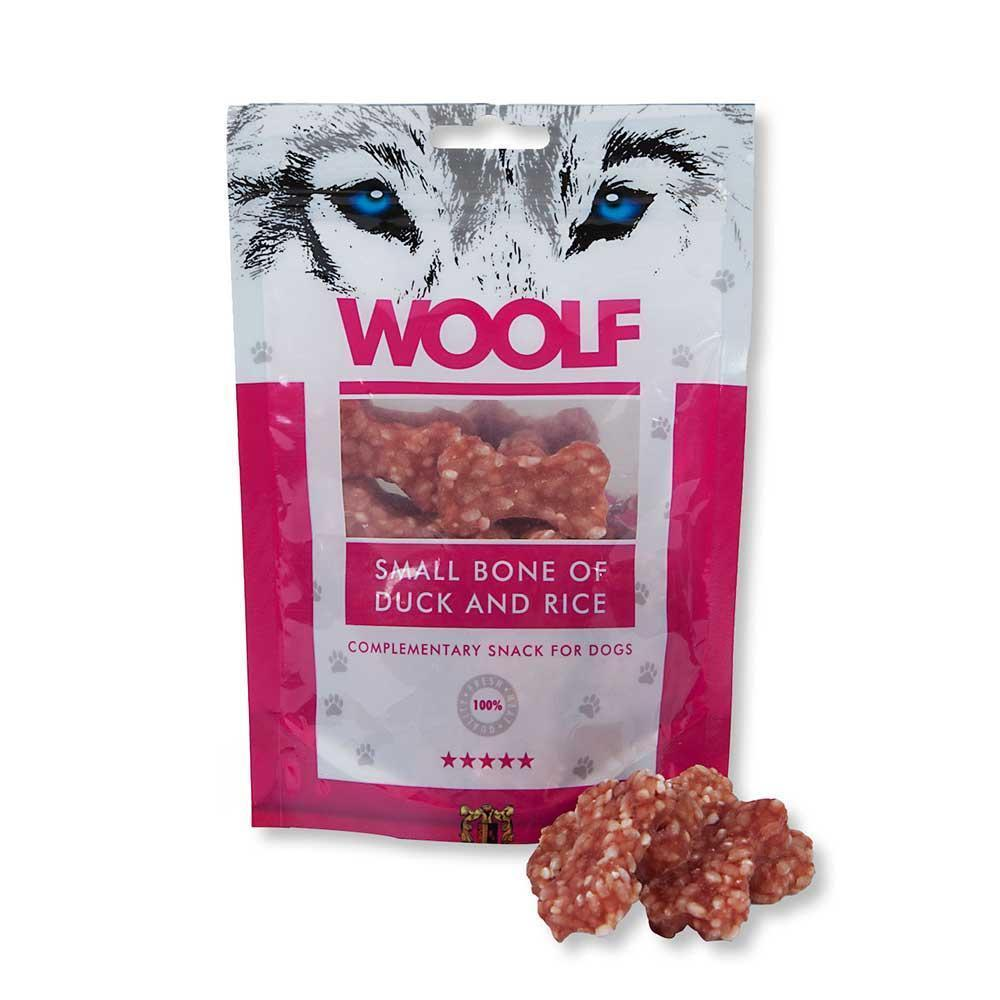 Woolf Small Bone of Duck & Rice Dog Treats Woolf