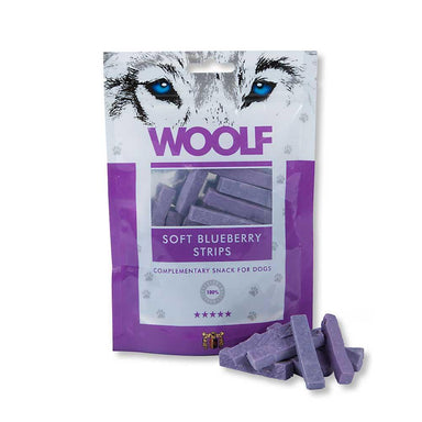 Woolf Soft Blueberry Strips Dog Treats Woolf