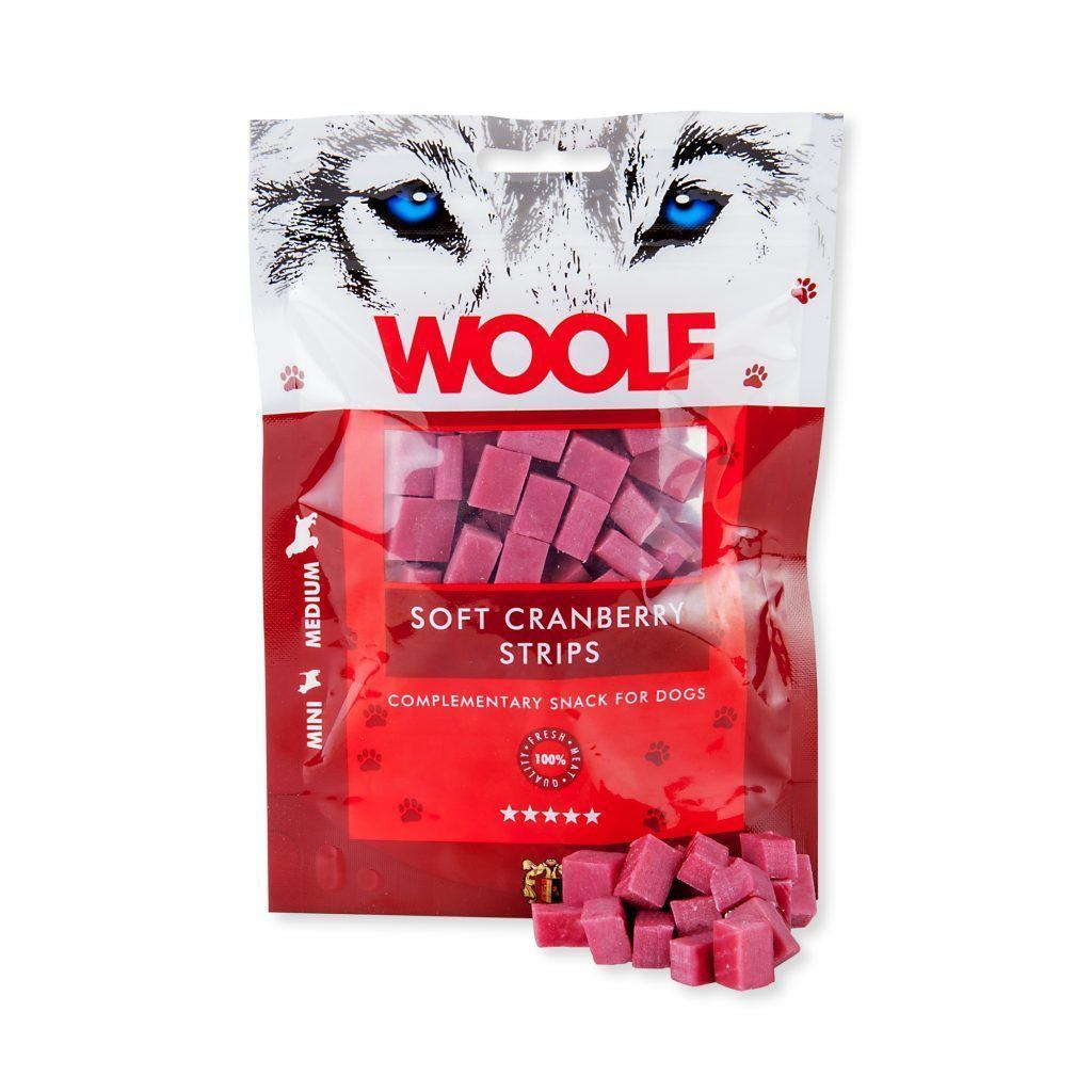 Woolf Soft Cranberry Strips Dog Treats Woolf