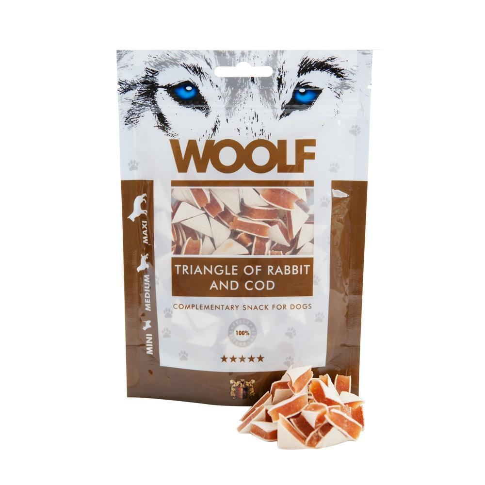 Woolf Triangle of Rabbit & Cod Dog Treats Woolf
