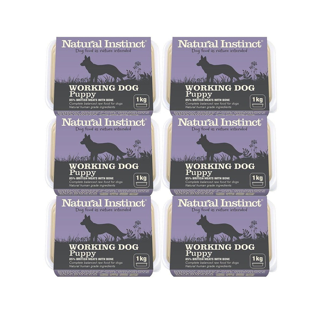 Working Dog Raw Puppy Bundle x12 Dog Food - Frozen Natural Instinct