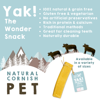 Yak - The Wonder Snack! Large Dog Treats Natural Cornish Pet