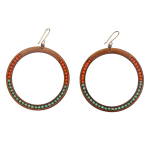 Maasai Beaded hoops
