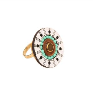 Sundial Beaded Ring