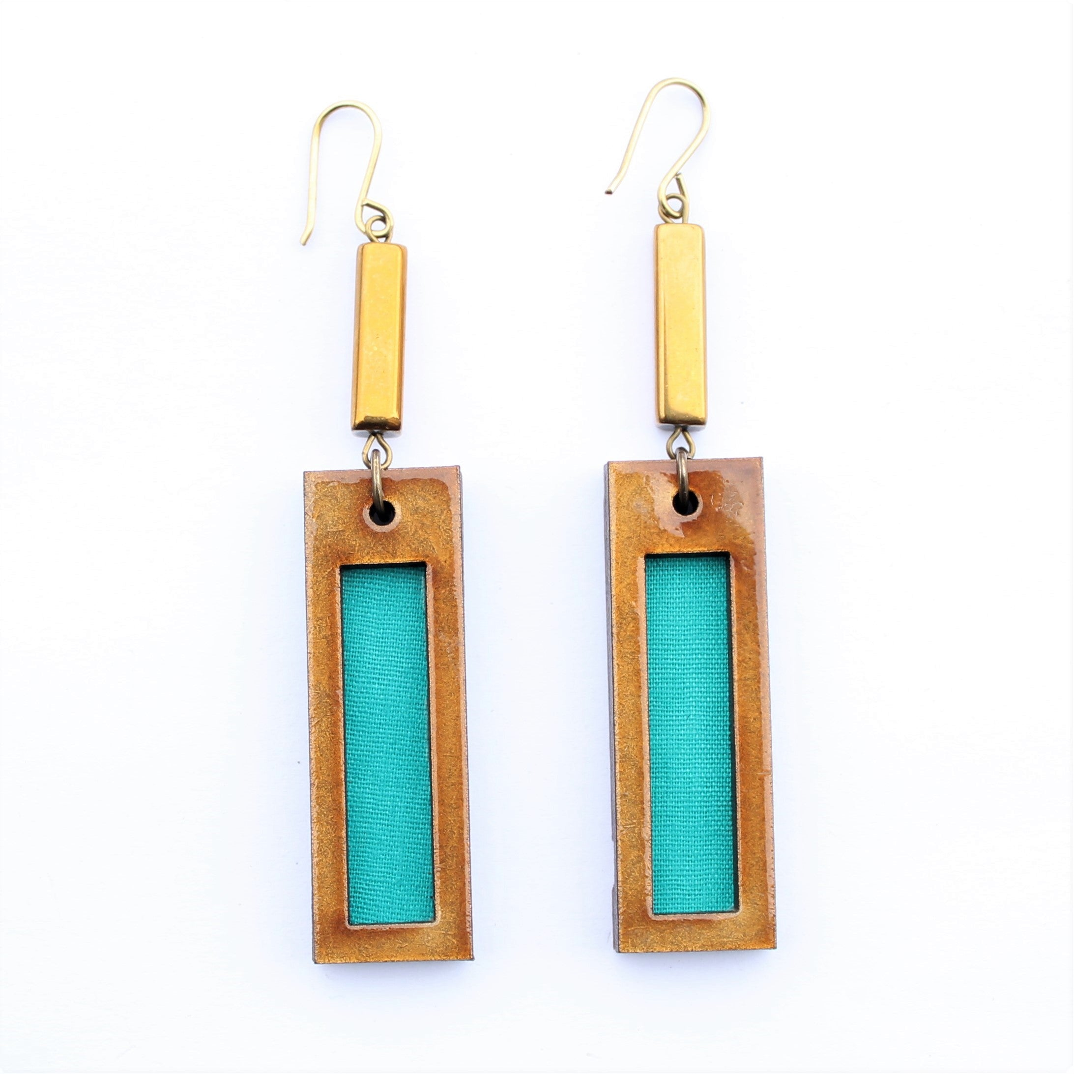 Bar Print Earrings
