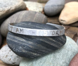"Handmade Permanently Etched Aluminum Bracelet ""I am the Storm"""