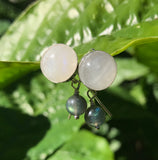 Sterling Silver Moonstone and Labradorite Earrings