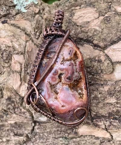 Druzy Filled Tumbled Stone in Copper
