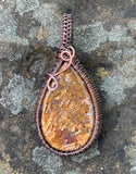 Petrified Palmwood Cabochon in Copper