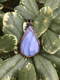Blue Lace Agate Pendant in Copper