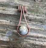 Picasso Jasper suspended in copper