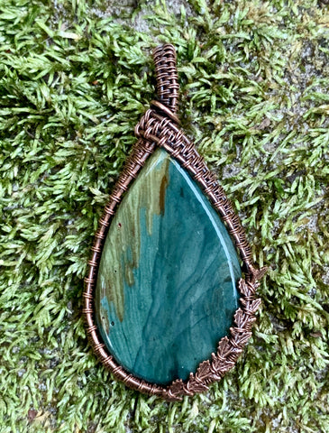 Gary Green Jasper in Copper
