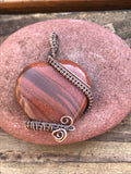 Goldstone Heart in Copper