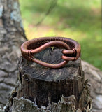 Heavy Gauge Woven Copper Ring - Size 13