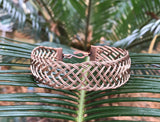 Braided Copper Bracelet - 8""