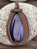 Purple Striped Agate in Copper