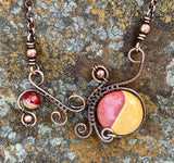 Mookaite and Copper Necklace