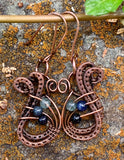 I Got The Blues Earrings in Copper
