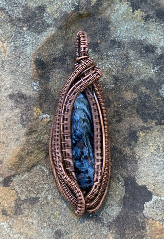 Pietersite Pendant wrapped in Copper