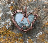 Labradorite Heart wrapped in Copper
