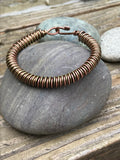 Copper and Bronze Coiled Bracelet - 7 1/2