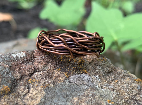Twisted Copper Ring - Size 6