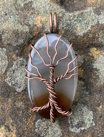 Agate and Copper Tree of Life