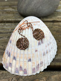 Hammered Coil Copper Earrings