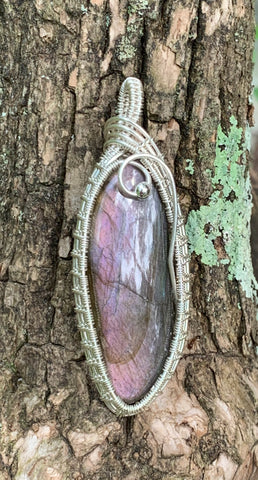 Purple Labradorite in Sterling Silver