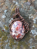 Flame Jasper Pendant in copper